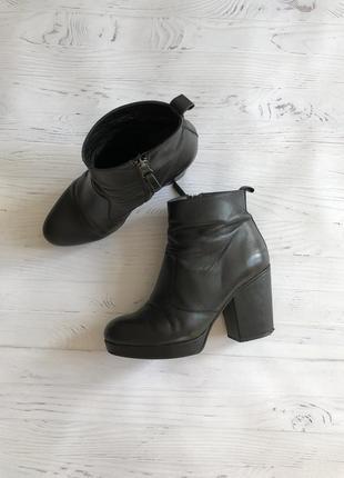 Кожаные ботинки topshop