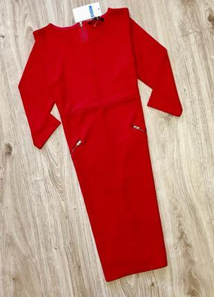 Платье красное от modis