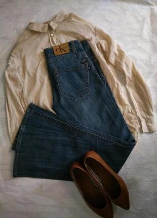 Calvin klein джинсы брендовые слегка расклешенные