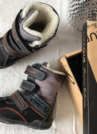 Демесезонный ботинки кожаные  сапоги cool club