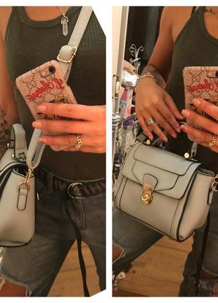 Эффектная сумочка-клатч стиль портфель