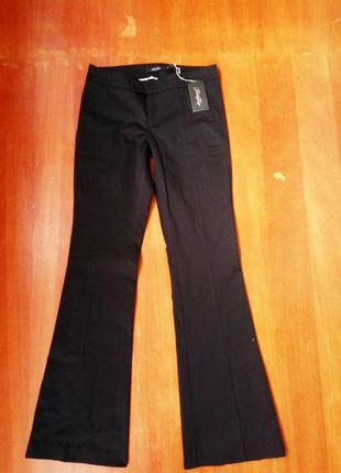 Классические чёрные брюки хлопок в деловом стиле twist&tango