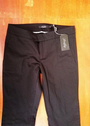 Классические чёрные брюки хлопок в деловом стиле twist&tango3