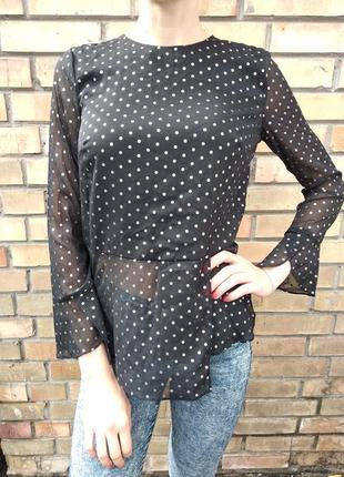 Блуза, блузка, рубашка, наряднакя в горошок кофточка