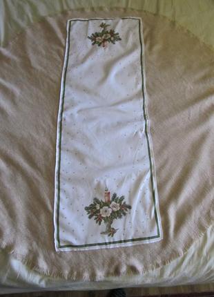 Овальная праздничная скатерть из натуральной ткани-лен