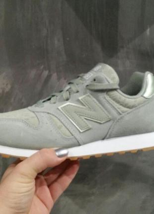 Мятные кроссовки new balance 373-оригинал, натуральная замша.
