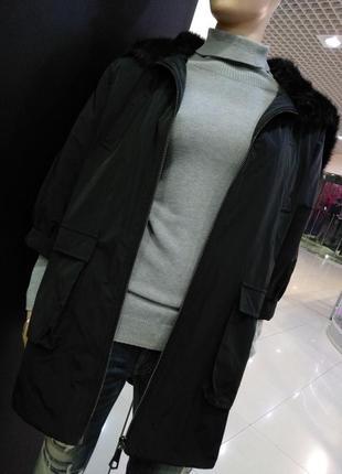 Куртка с искусственным мехом