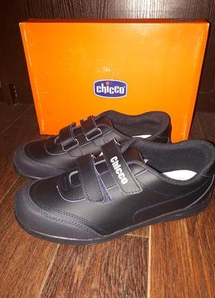 Кожанные туфли макасиныchicco 36