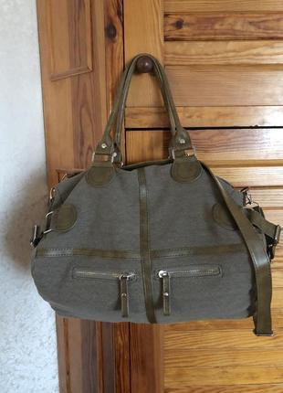 Стильная сумка из текстиля