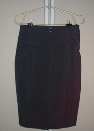 Новая! юбка карандаш с высокой талией papaya3 фото