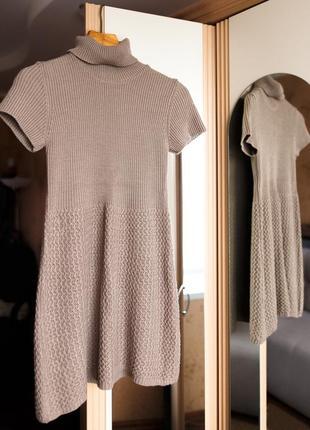 Тёплое вязаное платье zara