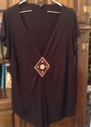 Красивейшая блуза из вискозы с вышивкой большого размера: 26