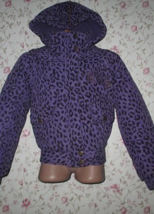 Теплая и качественная куртка фирмы okey, рост 122 см