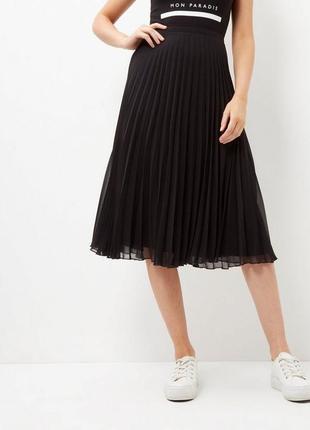 New look новая миди юбка гофре -плиссированная м - размер