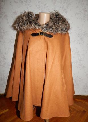 Dorothy perkins пальто-пончо накидка стильная модная рl новая
