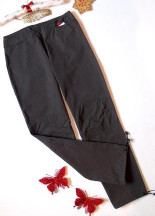 Спортивные штаны хаки с затяжками брюки с завышенной талией карго