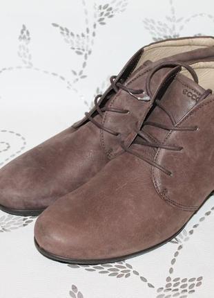 Комфортные кожаные полуботинки  ecco 42 размер 27,5 см стелька