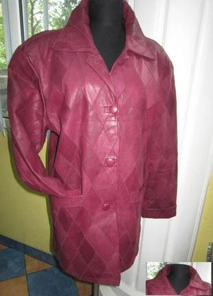 Большая стильная женская кожаная куртка elegance. лот 239