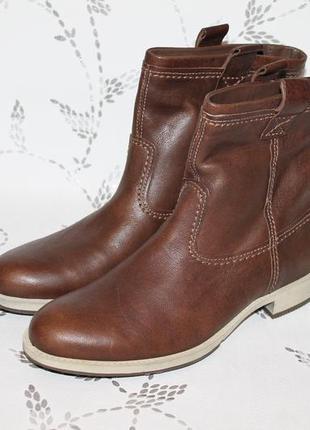 Еврозима!кожаные ботинки ecco 41 см 27 см стелька