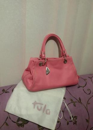 Яркая сумка из натуральной кожи (tula)