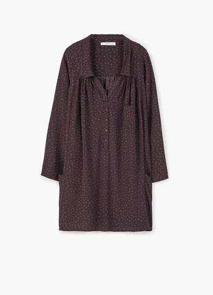Бордовое платье oversize mango платье рубашка в горох длинный рукав марсала бордо