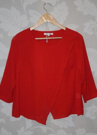 Шикарная красная блуза oxygen