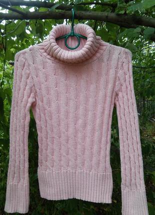Теплый свитер,30% шерсть, 70% акрил, италия, s