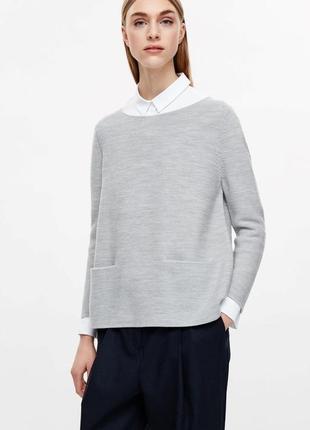 Шерстяной джемпер свитер cos