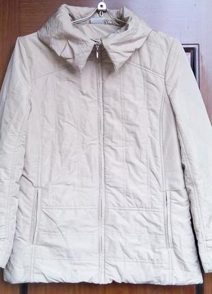 Легкий тонкий пуховик куртка бежевая blue motion