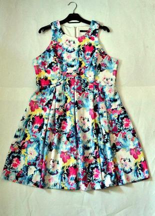 Красивое радужное платье - плотная ткань