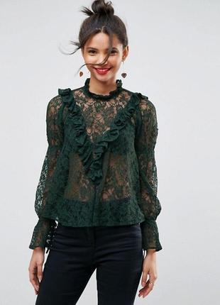 ♡ шикарная изумрудная блуза от asos ♡