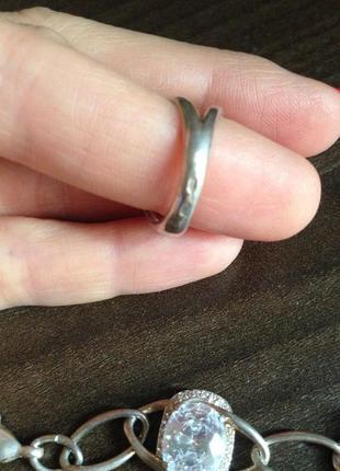 Комплект браслет и кольцо серебро 9252 фото