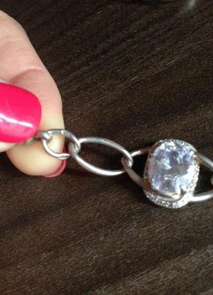 Комплект браслет и кольцо серебро 9254 фото