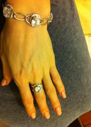 Комплект браслет и кольцо серебро 925