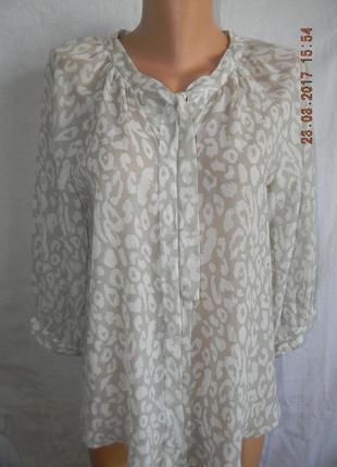 Нежная шифоновая блуза с принтом wallis