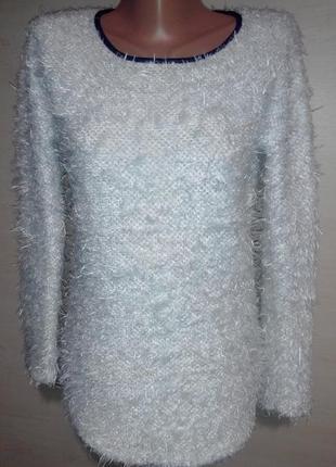 Белый шелковистый свитер травка турция
