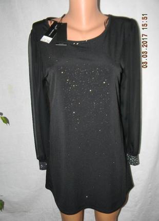Новая нарядная удлиненная блуза david emanuel