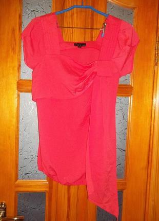 Шелковая коралловая блуза iren klaire р. l