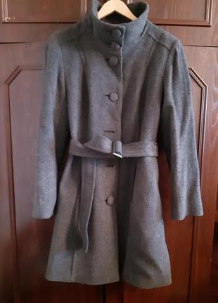 Пальто шерстяное marks & spencer.