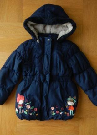 98-104 см tu шикарная парка куртка зимняя еврозима демисезонная.
