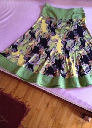 Вискозная летящая юбка
