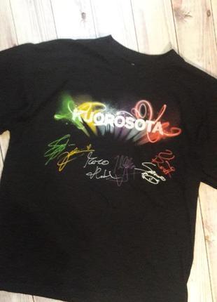 Хлопковая футболка со штрихами и надписями activewear