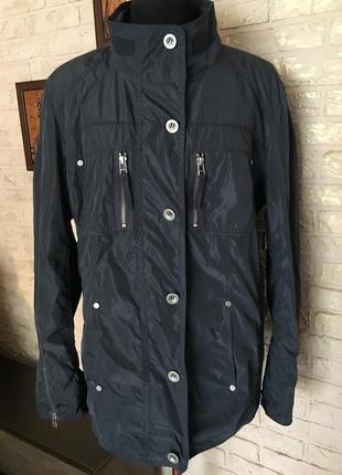 Синяя куртка плащевка
