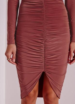 🔥 total sale 🔥стильная юбка миди со сборками missguided ms639