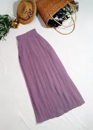 Плиссированная юбка миди