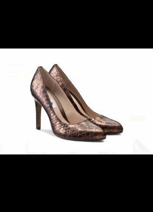 Clarks always chic metallic bronze кожаные туфли