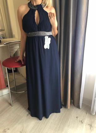 """Дорогое, красивое нарядное вечернее платье. р-р 46-48 """"eve seduire gold collection"""""""