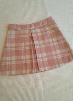 Короткая тёплая юбка f&f