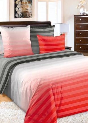 Туманное утро красное, постельное белье из перкаля (100% хлопок)