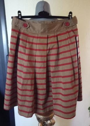 Цена снижена!срейчевая котоновая юбка-колокол в стиле zara